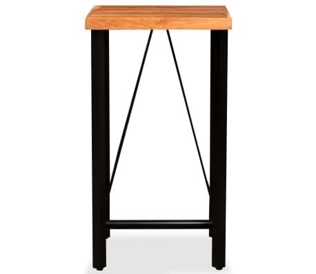 vidaXL Bar Set 3 Pieces Solid Sheesham Wood, Genuine Leather & Canvas[3/16]