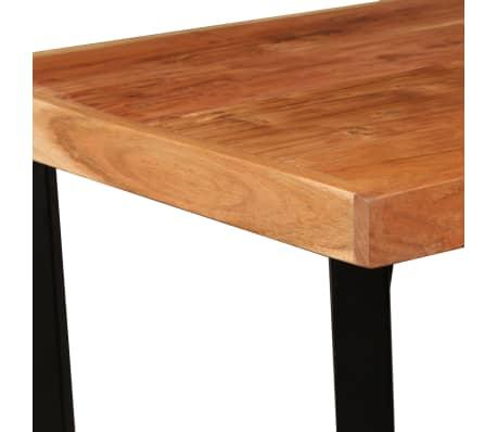 vidaXL Mesa y taburetes bar madera maciza sheesham cuero real y lona[4/16]