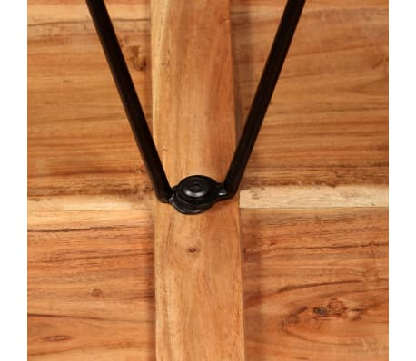 vidaXL Mesa y taburetes bar madera maciza sheesham cuero real y lona[5/16]