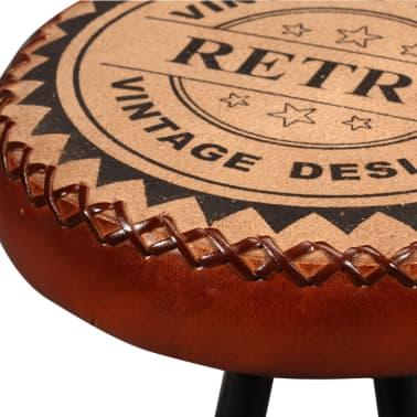 vidaXL Bar Set 3 Pieces Solid Sheesham Wood, Genuine Leather & Canvas[11/16]