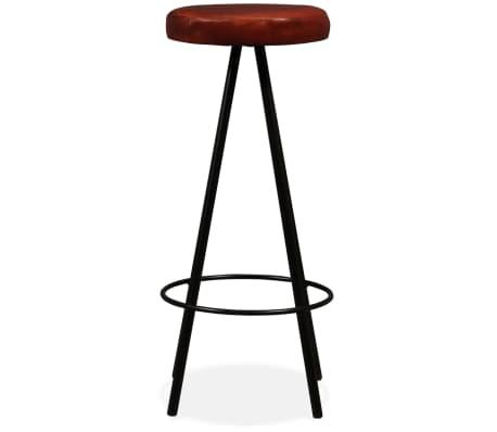 vidaXL 5 Piece Bar Set Solid Sheesham Wood and Genuine Leather[13/15]
