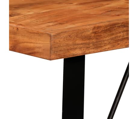 vidaXL Bar Set 5 Pieces Solid Sheesham Wood and Genuine Leather[4/15]