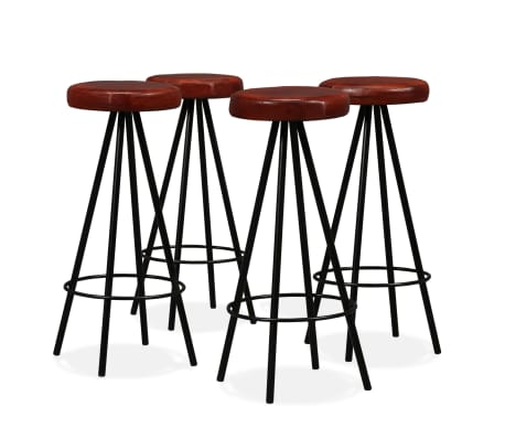 vidaXL Bar Set 5 Pieces Solid Sheesham Wood and Genuine Leather[8/15]