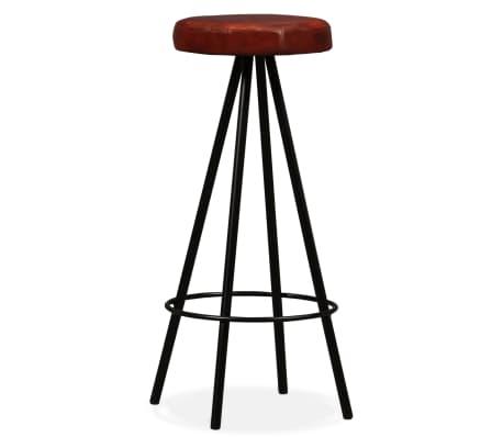 vidaXL 5 Piece Bar Set Solid Sheesham Wood and Genuine Leather[9/15]