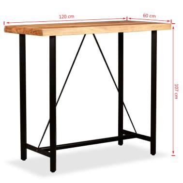 vidaXL 5 Piece Bar Set Solid Sheesham Wood and Genuine Leather[14/15]