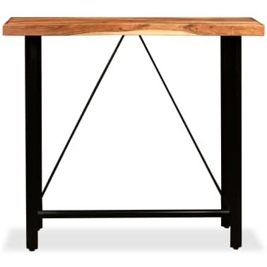 vidaXL 5 Piece Bar Set Solid Sheesham Wood and Genuine Leather[3/15]