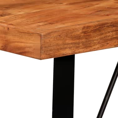 vidaXL 5 Piece Bar Set Solid Sheesham Wood and Genuine Leather[4/15]