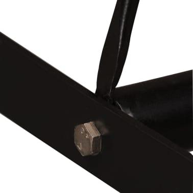 vidaXL Bar Set 5 Pieces Solid Sheesham Wood and Genuine Leather[5/15]