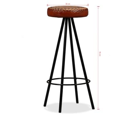 vidaxl bar set 5 tlg massives sheesham holz echtleder. Black Bedroom Furniture Sets. Home Design Ideas