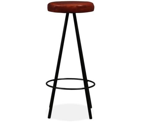 vidaXL Set muebles de bar 7 pzas madera maciza sheesham cuero genuino[12/14]