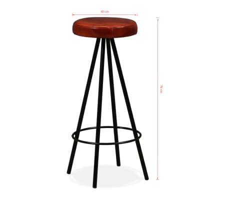 vidaXL Set muebles de bar 7 pzas madera maciza sheesham cuero genuino[14/14]