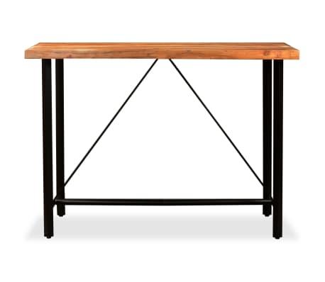 vidaXL Set muebles de bar 7 pzas madera maciza sheesham cuero genuino[3/14]
