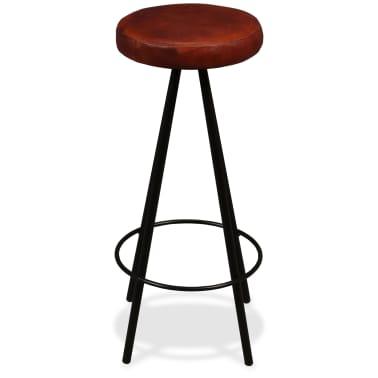 vidaXL Set muebles de bar 7 pzas madera maciza sheesham cuero genuino[11/14]