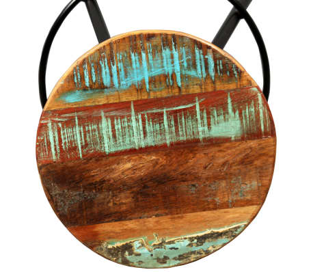 vidaXL Bar Set 7 Pieces Solid Sheesham and Reclaimed Wood[11/15]
