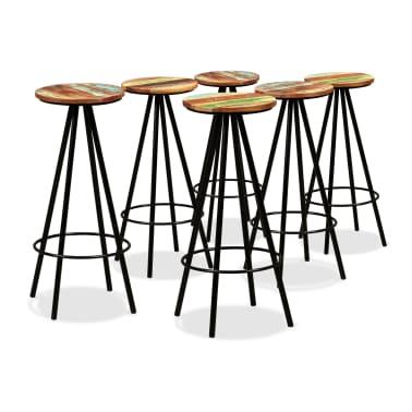 vidaXL Bar Set 7 Pieces Solid Sheesham and Reclaimed Wood[7/15]