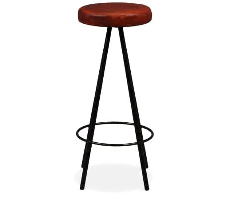 vidaXL Bar Set 3 Pieces Solid Reclaimed Wood and Genuine Leather[12/17]