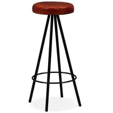 vidaXL Bar Set 3 Pieces Solid Reclaimed Wood and Genuine Leather[11/17]