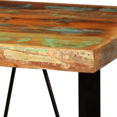 vidaXL Bar Set 3 Pieces Solid Reclaimed Wood and Genuine Leather[5/17]