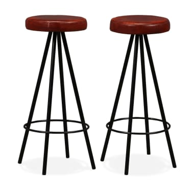 vidaXL Bar Set 3 Pieces Solid Reclaimed Wood and Genuine Leather[8/17]