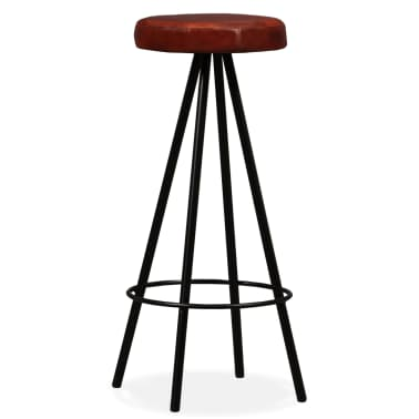 vidaXL Bar Set 3 Pieces Solid Reclaimed Wood and Genuine Leather[9/17]
