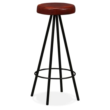 vidaXL Bar Set 3 Pieces Solid Reclaimed Wood and Genuine Leather[10/17]
