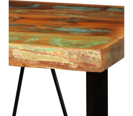 vidaXL Bar Set 3 Pieces Solid Reclaimed Wood, Genuine Leather & Canvas[5/18]