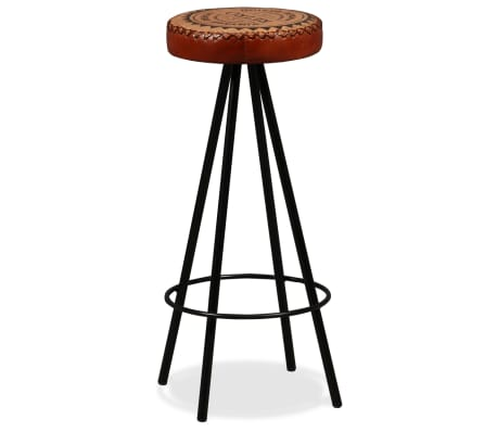 vidaXL Bar Set 3 Pieces Solid Reclaimed Wood, Genuine Leather & Canvas[10/18]
