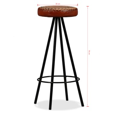 vidaXL Bar Set 3 Pieces Solid Reclaimed Wood, Genuine Leather & Canvas[18/18]