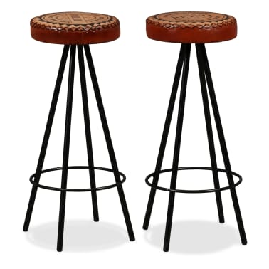 vidaXL Bar Set 3 Pieces Solid Reclaimed Wood, Genuine Leather & Canvas[8/18]