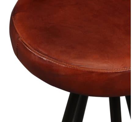 vidaXL Set muebles de bar 5 pzas madera maciza reciclada cuero genuino[13/16]