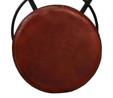 vidaXL Set muebles de bar 5 pzas madera maciza reciclada cuero genuino[14/16]