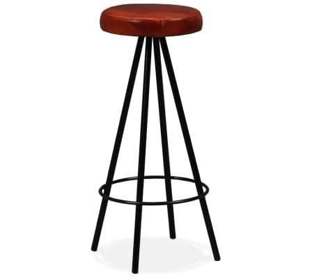 vidaXL Set muebles de bar 5 pzas madera maciza reciclada cuero genuino[16/16]