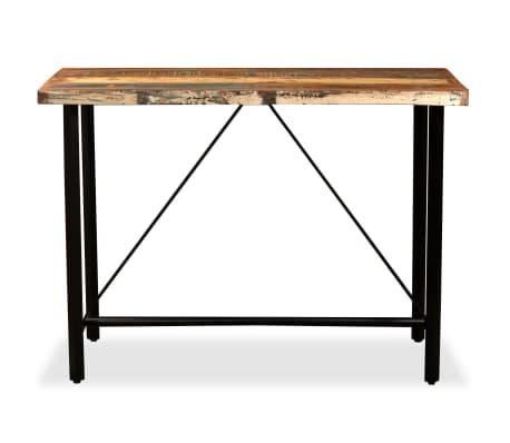 vidaXL Set muebles de bar 5 pzas madera maciza reciclada cuero genuino[3/16]
