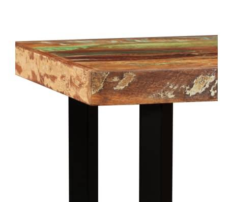 vidaXL Set muebles de bar 5 pzas madera maciza reciclada cuero genuino[6/16]