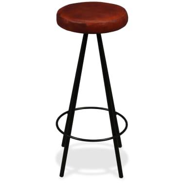 vidaXL Set muebles de bar 5 pzas madera maciza reciclada cuero genuino[11/16]