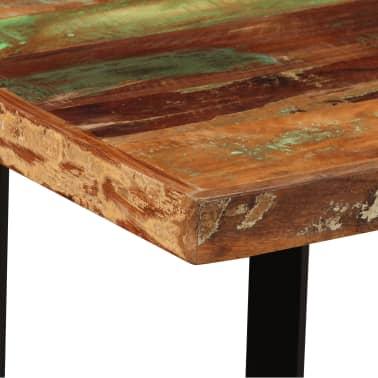 vidaXL Set muebles de bar 5 pzas madera maciza reciclada cuero genuino[5/16]