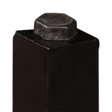 vidaXL Set muebles de bar 5 pzas madera maciza reciclada cuero genuino[7/16]