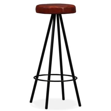 vidaXL Set muebles de bar 5 pzas madera maciza reciclada cuero genuino[10/16]