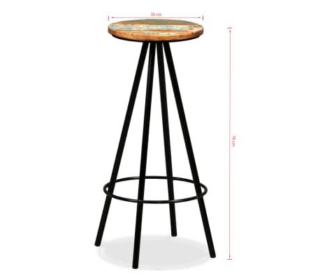 vidaXL Set de muebles de bar 5 piezas madera maciza reciclada[16/16]