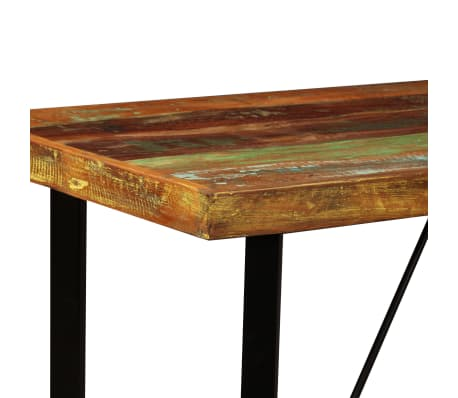 vidaXL Bar Set 5 Pieces Solid Reclaimed Wood, Genuine Leather & Canvas[3/15]