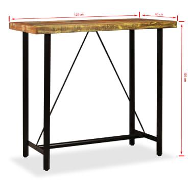 vidaXL Barska garnitura 5 delna predelani les, pravo usnje in platno[14/15]
