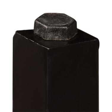vidaXL Barska garnitura 5 delna predelani les, pravo usnje in platno[6/15]