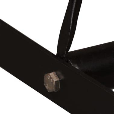 vidaXL Barska garnitura 5 delna predelani les, pravo usnje in platno[7/15]