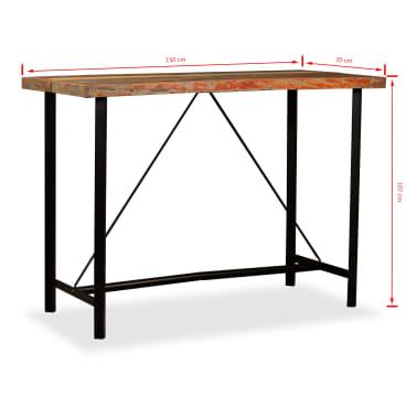 vidaXL Baro komplektas, 7d., tvirta perdirbta mediena ir tikra oda[17/18]
