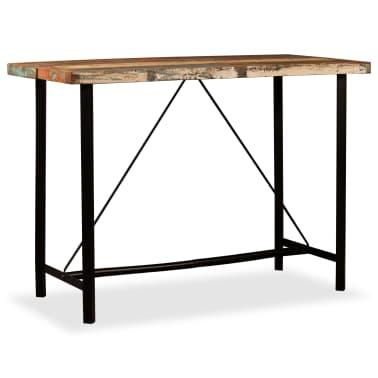vidaXL Baro komplektas, 7d., tvirta perdirbta mediena ir tikra oda[4/18]