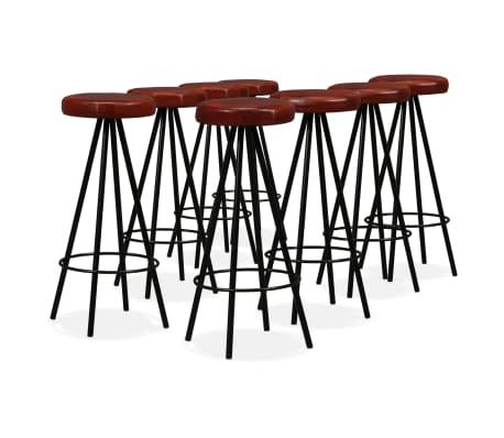 vidaXL 9-dielna barová súprava, masívne recyklované drevo a pravá koža[2/15]
