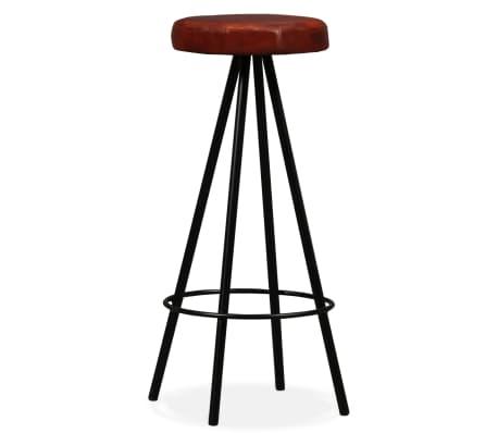 vidaXL 9-dielna barová súprava, masívne recyklované drevo a pravá koža[11/15]