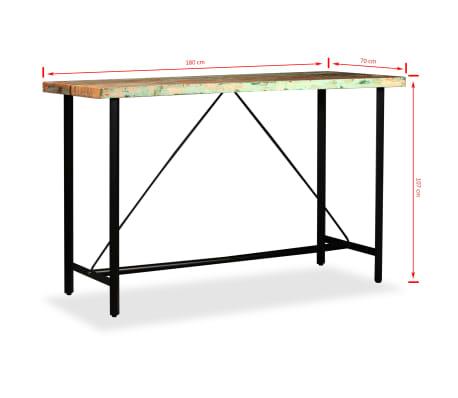 vidaXL 9-dielna barová súprava, masívne recyklované drevo a pravá koža[14/15]