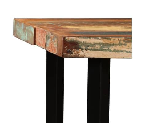 vidaXL 9-dielna barová súprava, masívne recyklované drevo a pravá koža[5/15]