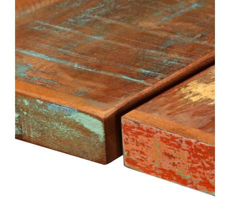 vidaXL 9-dielna barová súprava, masívne recyklované drevo a pravá koža[6/15]